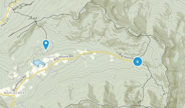 Maplecrest, New York Hiking Map