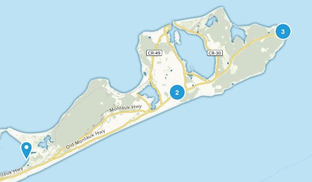 Montauk, New York Beach Map