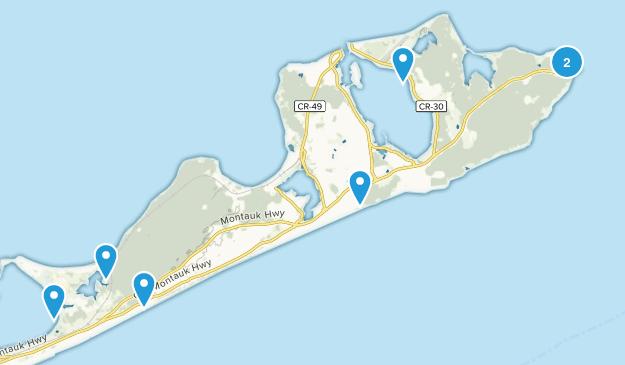 Montauk, New York Birding Map