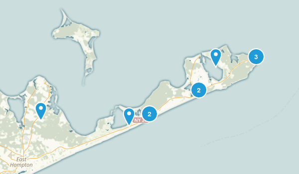 Montauk, New York Dogs On Leash Map