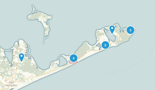 Montauk, New York Hiking Map