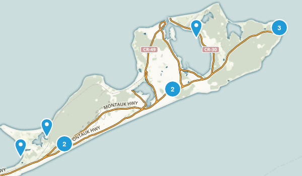 Montauk, New York Nature Trips Map