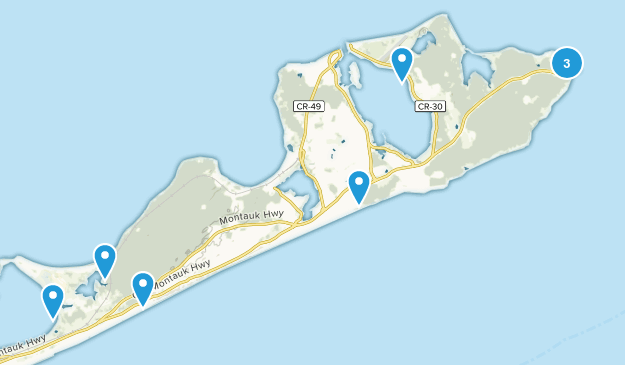 Montauk, New York Views Map