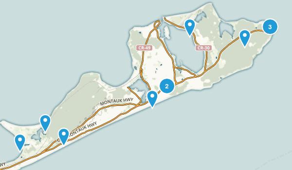 Montauk, New York Walking Map