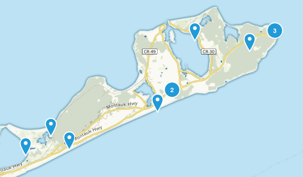 Montauk, New York Walking Map
