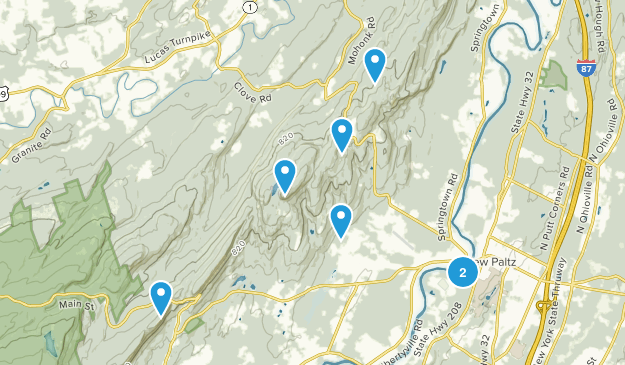 New Paltz, New York Forest Map