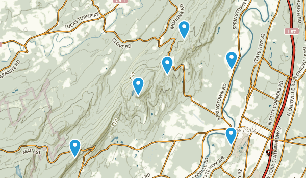 New Paltz, New York Hiking Map