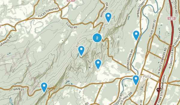 New Paltz, New York Hiking Map