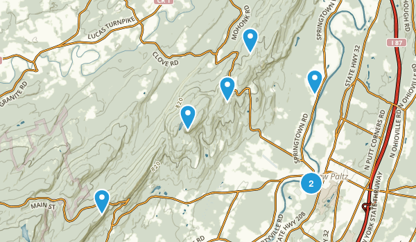 New Paltz, New York Nature Trips Map