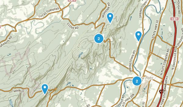 New Paltz, New York Trail Running Map