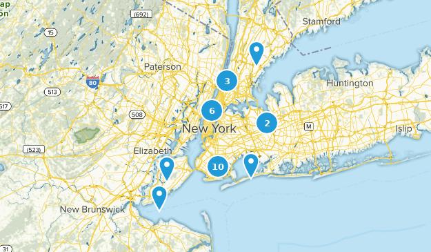 New York City, New York Bird Watching Map