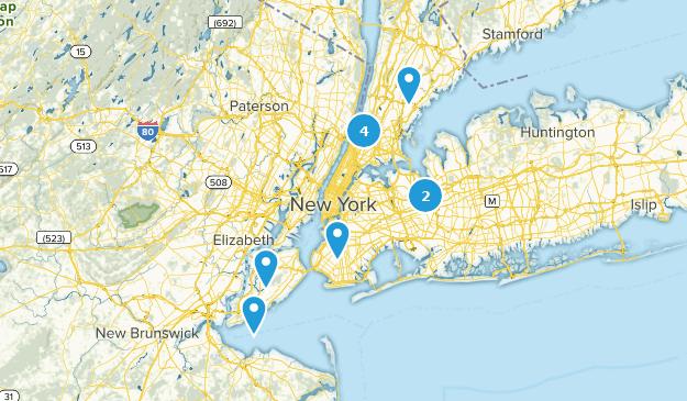 New York City, New York Mountain Biking Map