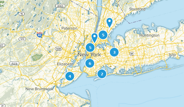 New York City, New York Nature Trips Map