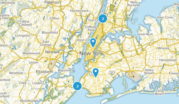 New York City, New York Paved Map