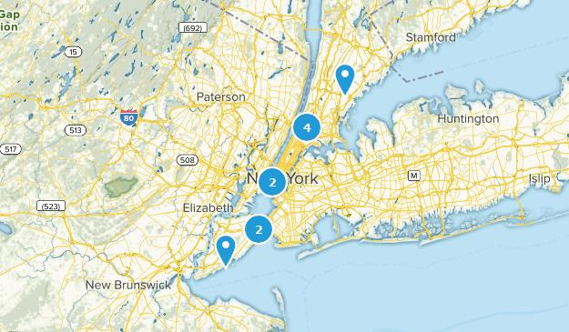 New York City, New York River Map