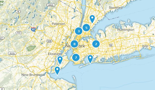 New York City, New York Views Map