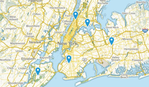 New York, New York Mountain Biking Map