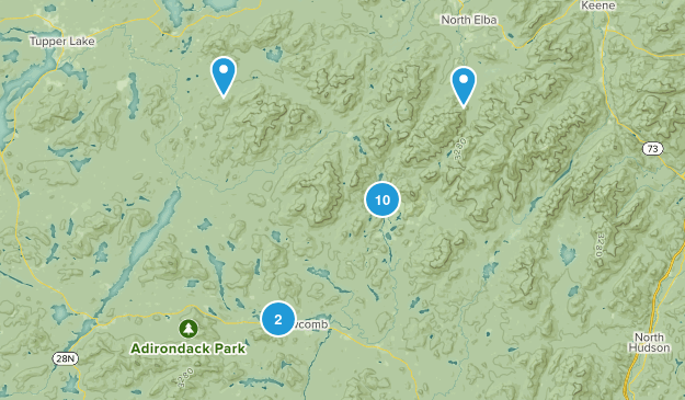 Newcomb, New York Hiking Map