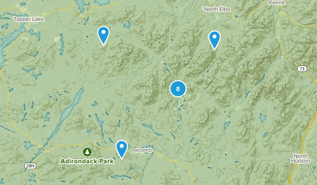 Newcomb, New York Nature Trips Map