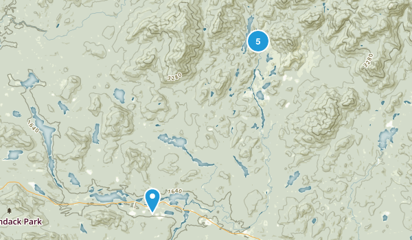 Newcomb, New York Snowshoeing Map