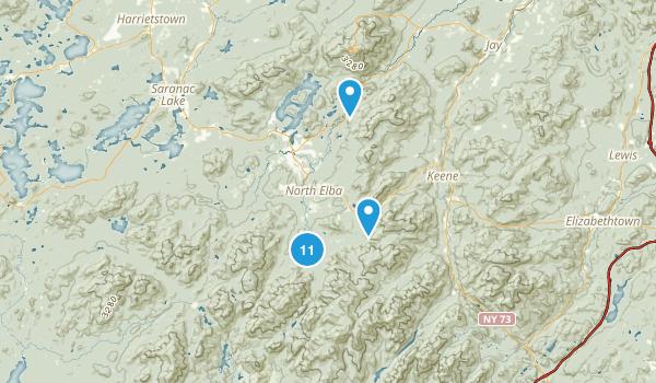North Elba, New York Dogs On Leash Map