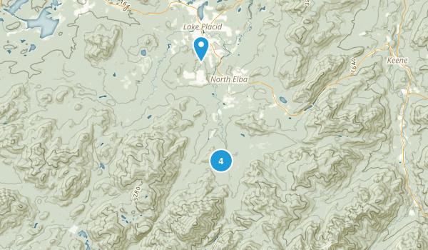 North Elba, New York Trail Running Map