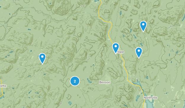 Northville, New York Hiking Map