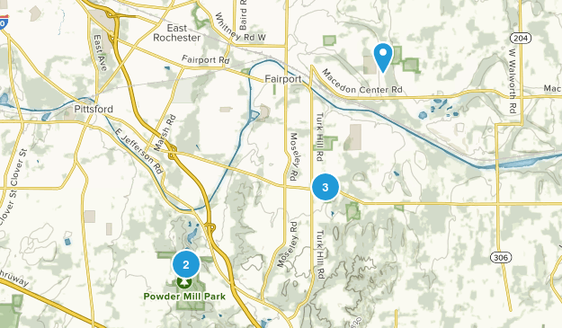 Perinton, New York Birding Map