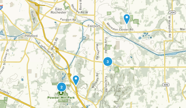 Perinton, New York Dogs On Leash Map