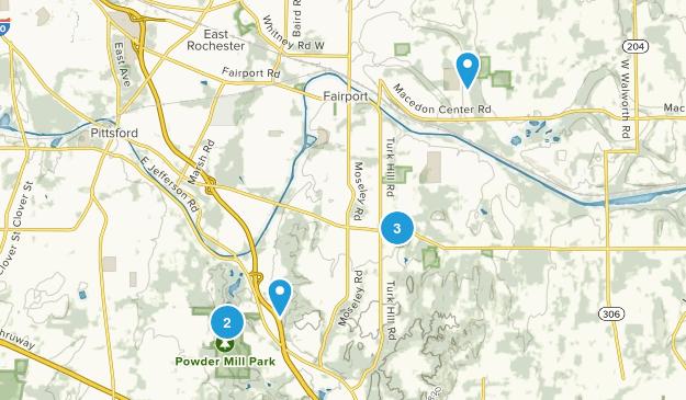 Perinton, New York Hiking Map