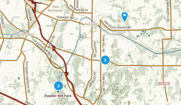 Perinton, New York Nature Trips Map