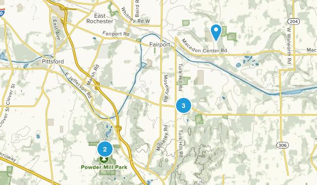 Perinton, New York Walking Map