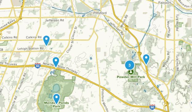 Pittsford, New York Hiking Map