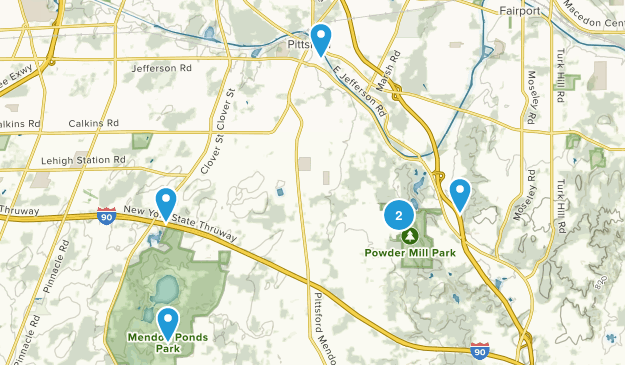 Pittsford, New York Nature Trips Map