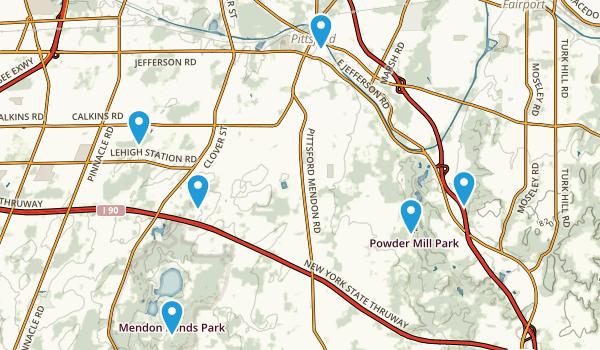 Pittsford, New York Trail Running Map
