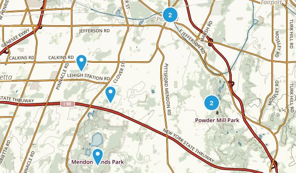Pittsford, New York Walking Map