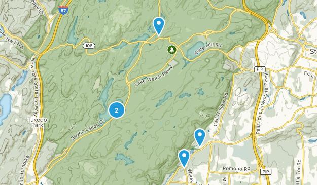 Pomona, New York Nature Trips Map