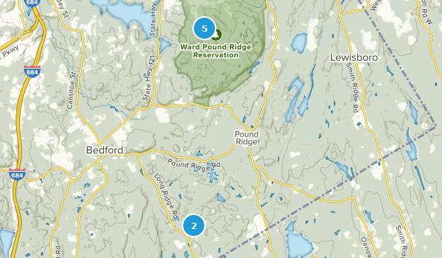 Pound Ridge, New York Hiking Map