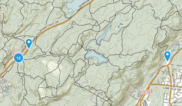 Ramapo, New York Hiking Map
