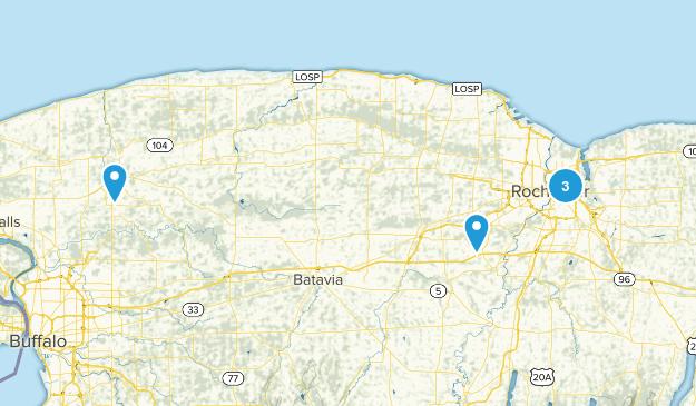Rochester, New York Mountain Biking Map
