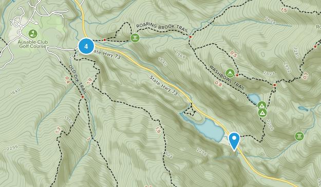 Saint Huberts, New York Hiking Map