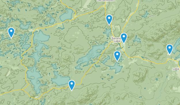 Saranac Lake, New York Hiking Map
