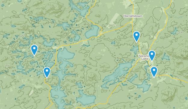 Saranac Lake, New York Kid Friendly Map