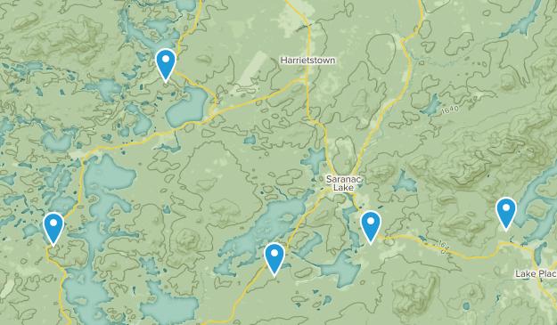 Saranac Lake, New York Lake Map