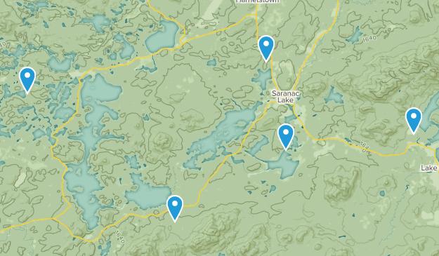 Saranac Lake, New York Trail Running Map