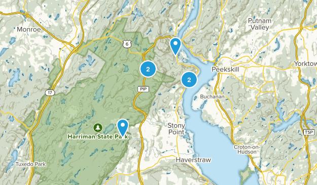 Stony Point, New York Hiking Map