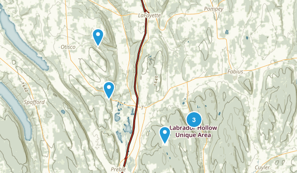 Tully, New York Hiking Map