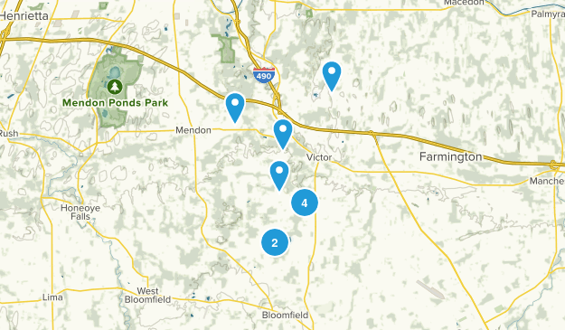 Victor, New York Hiking Map