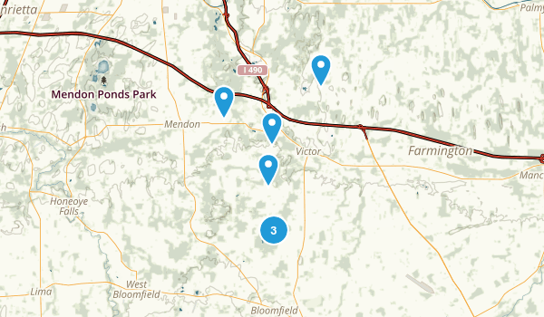 Victor, New York Trail Running Map