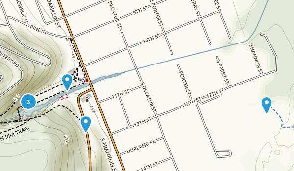 Watkins Glen, New York Walking Map